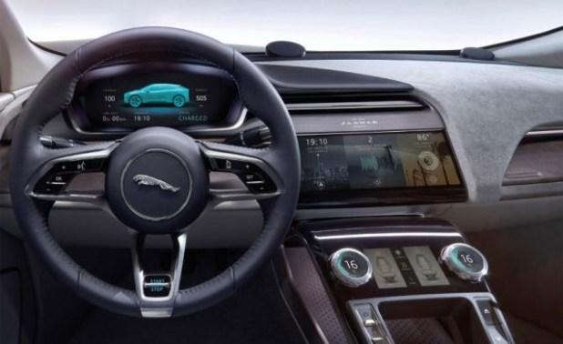 2019 Jaguar I-Pace EV dashboard