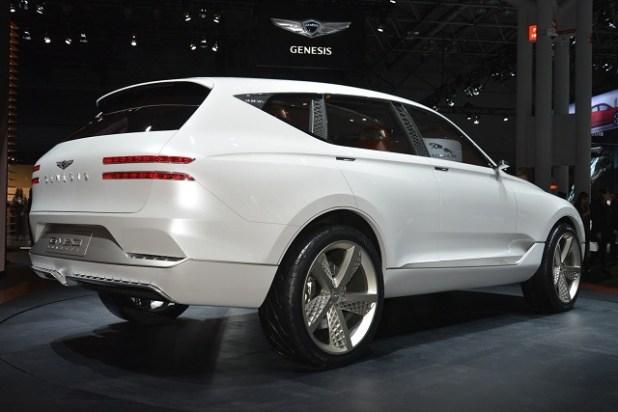 2019 Genesis GV80 SUV rear view