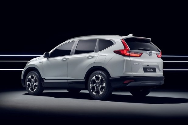 2019 honda cr-v hybrid rear view