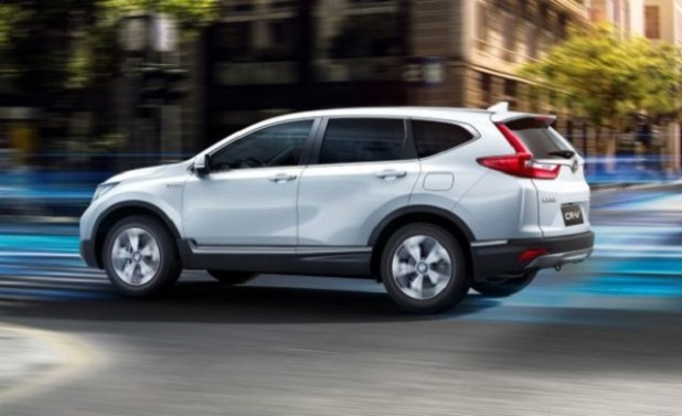 2019 honda cr-v hybrid side view