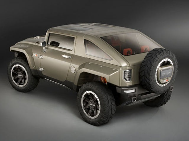 2018 Hummer H3 Concept Rear View 2019 And 2020 New SUV