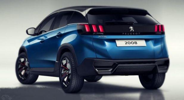 2019 Peugeot 2008 rear