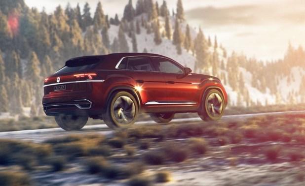 2020 VW Atlas rear view
