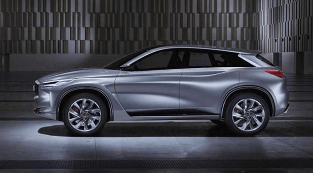 2020 infiniti qx70 side view
