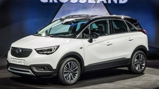 2020 opel crossland x front view