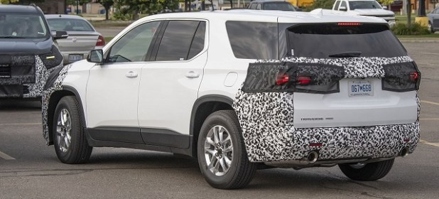 2021 Chevy Traverse spy shot rear
