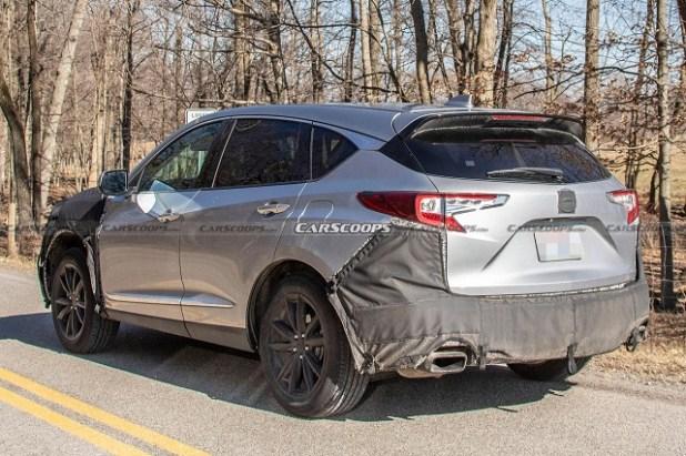 2022 Acura RDX spy shot rear