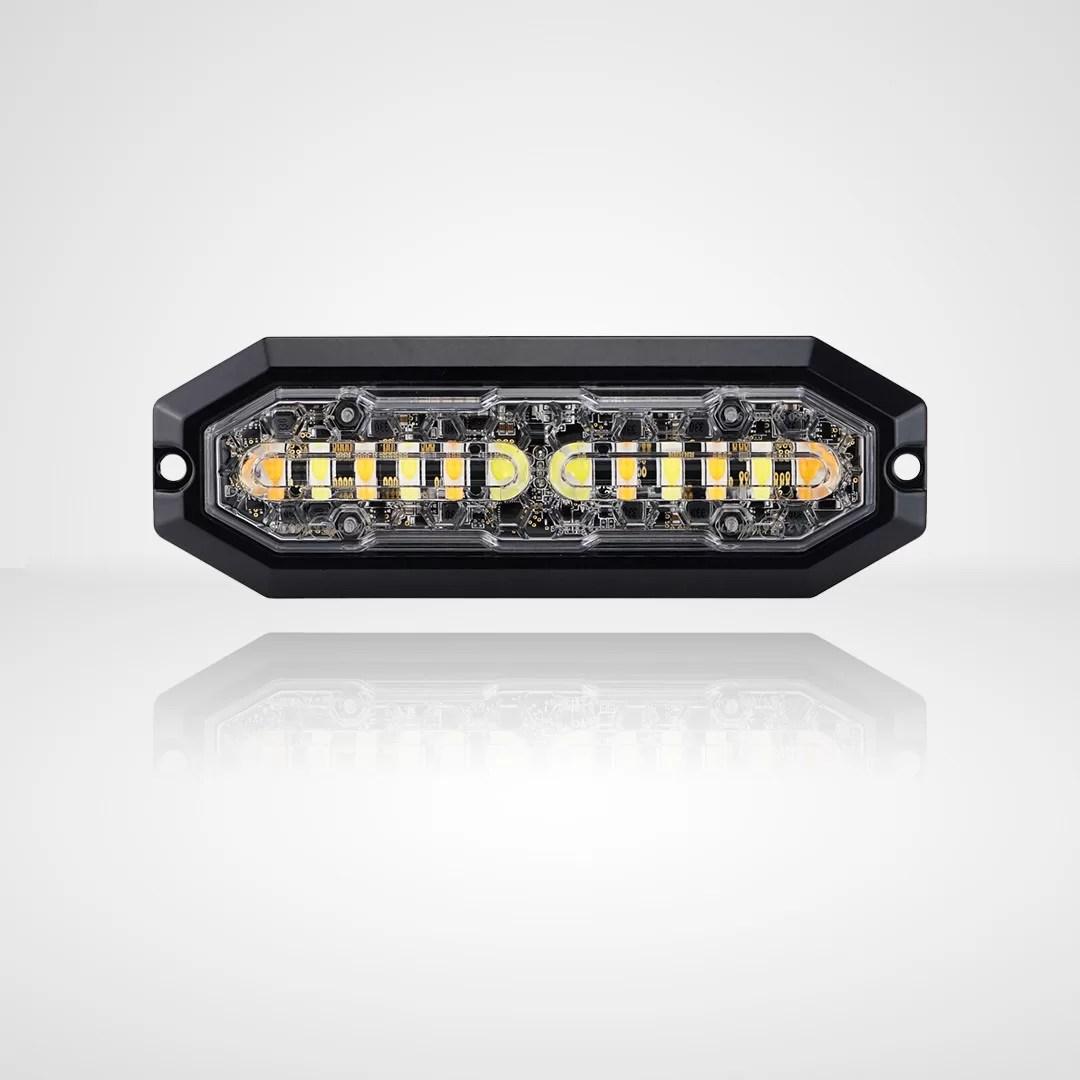 FEU FLASH 12 LED, 12-24V DC, 20W Amber & White LED