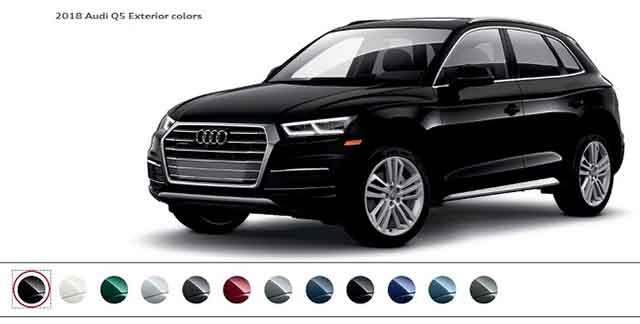 2019 Audi Q5 colors