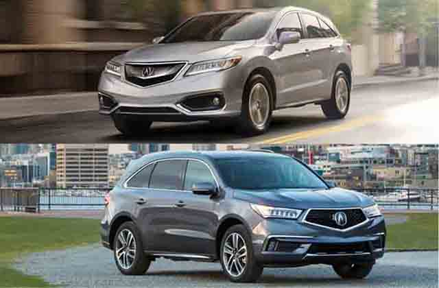 2019 Acura MDX vs 2019 Acura RDX