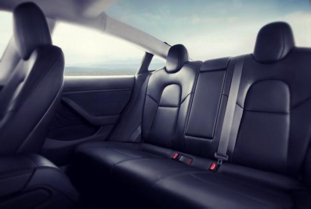 2019 Tesla Model Y seats