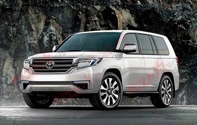2020 Toyota Land Cruiser spy photos new