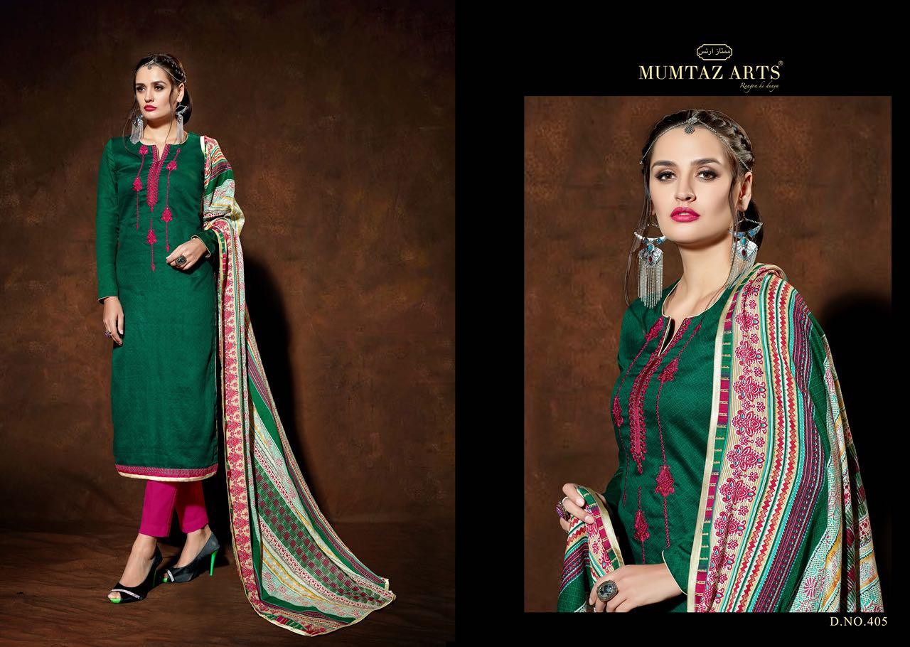 d003a24d31 Mumtaz Arts Kapas Green Jam silk embroidered suits - Suvesa- women's ...