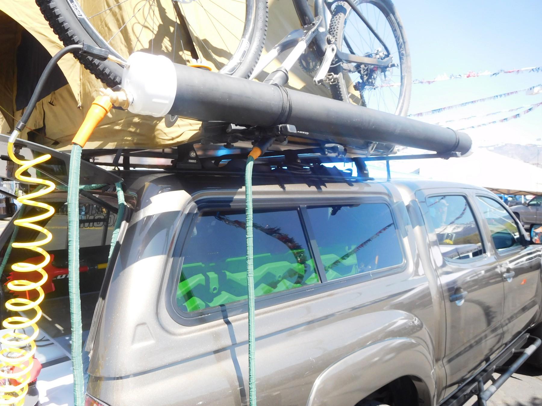 diy pvc rooftop solar shower for a car