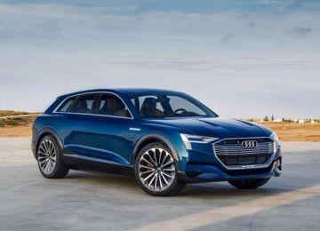 2019 Audi e-tron Quattro electric SUV front