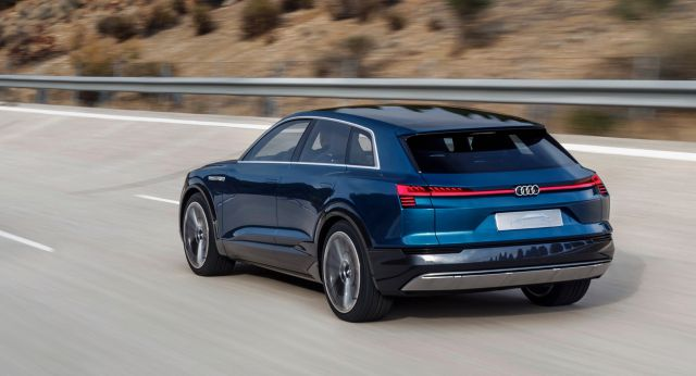 2019 Audi e-tron Quattro electric SUV rear