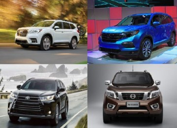 2019 3 row mids size suvs