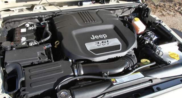 2019 Jeep Wrangler Pentastar Engine