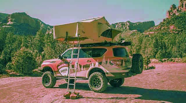 2019 Nissan Armada Mountain Patrol tent