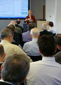 Suw presenting at RIBA2009