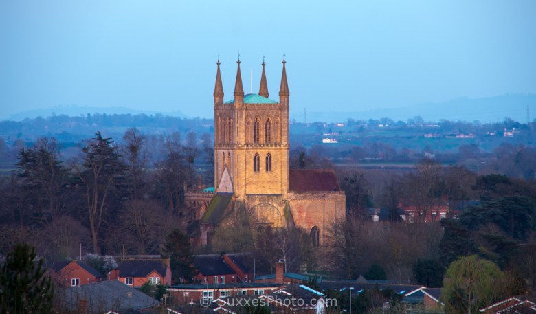 Pershore abbey sunset