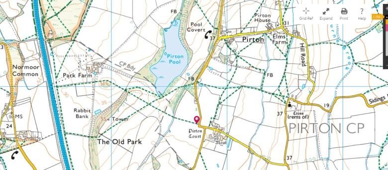 Pirton ordnance survey
