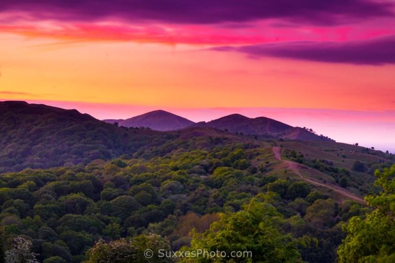 Malvern Hills Red Sky