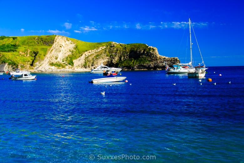 yachts in lulworth cove