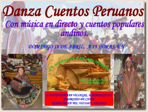 Cuentacuentos Peruano – domingo 18 de abril