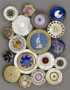Pearl and metal buttons, 1780 to 1820, Luckcock Collection, Birmingham Museum of Art