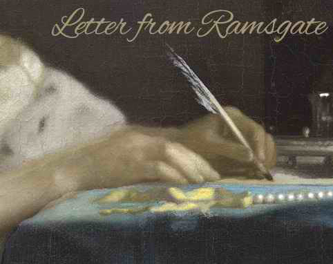 "Graphic art for signature design by L.L. Diamond using an oil painting by Johannes Vermeer: ""A Lady Writing."""