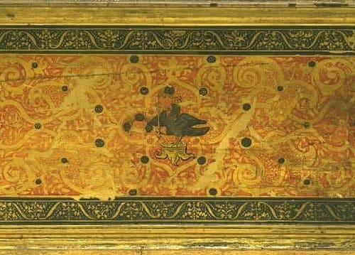 Anne Boleyn's falcon on Elizabeth I's virginals