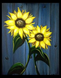 Acrylic Sunflowers
