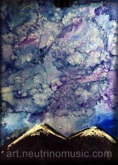 Storm (Watercolor and Salt)