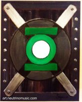 Green Lantern Symbol - Acrylic by Suzanna