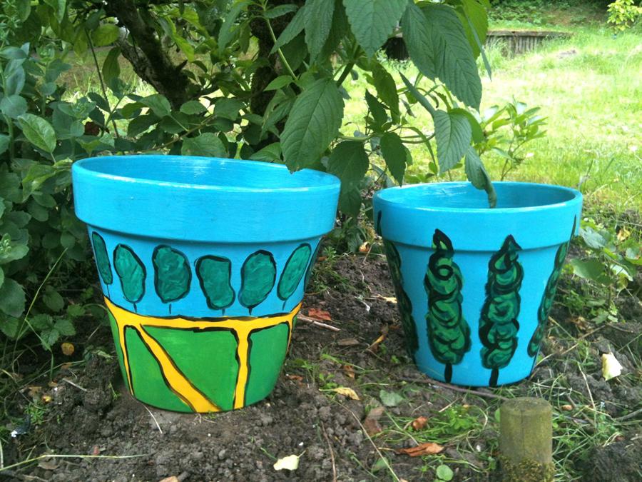 Van tuinpotten beschilderen word je niet rijk