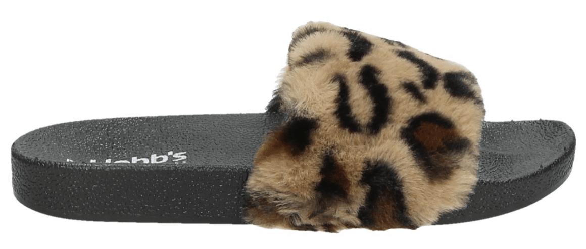 badslipper met luipaard print