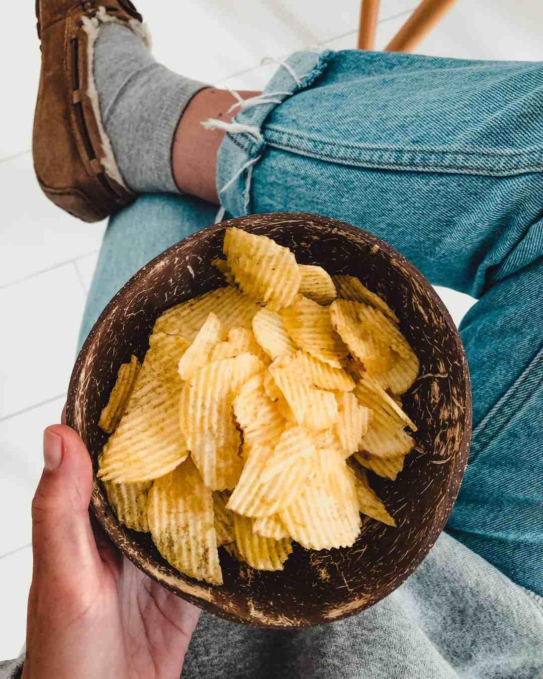 naturel ribbel chips