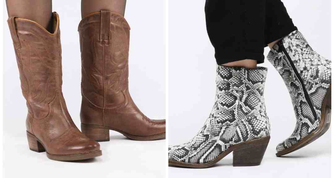 cowboylaarzen schoenen dierenprint snakeprint shoes