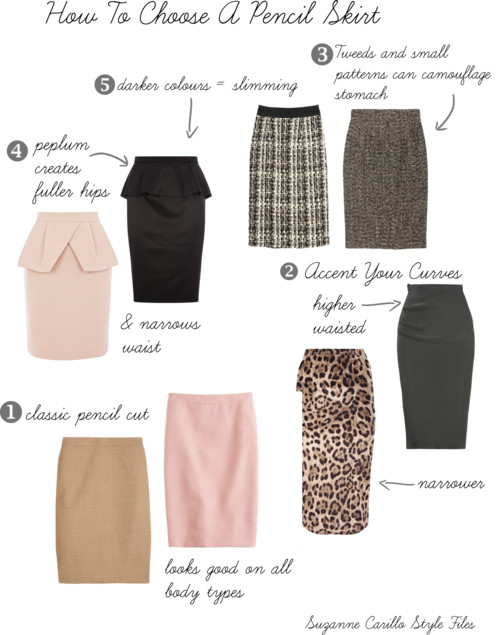 How To Choose A Pencil Skirt