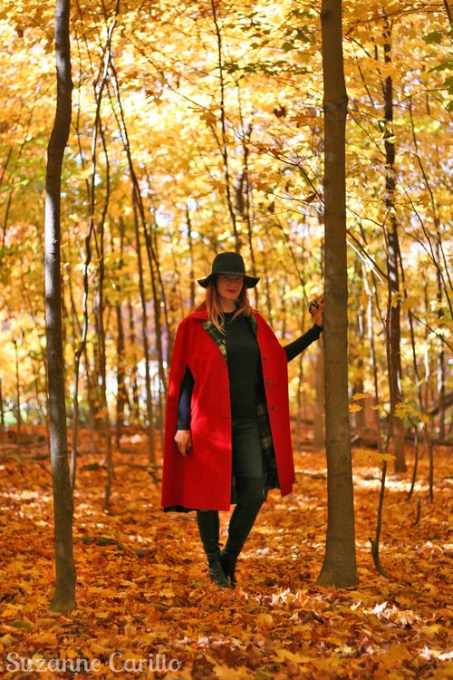 How to wear and style a red cape suzanne carillo
