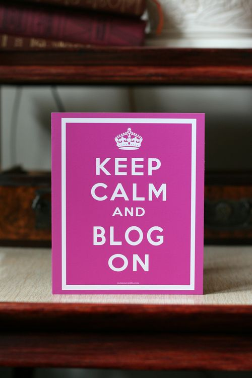 Keep calm and blog on greeting card suzanne carillo blog card