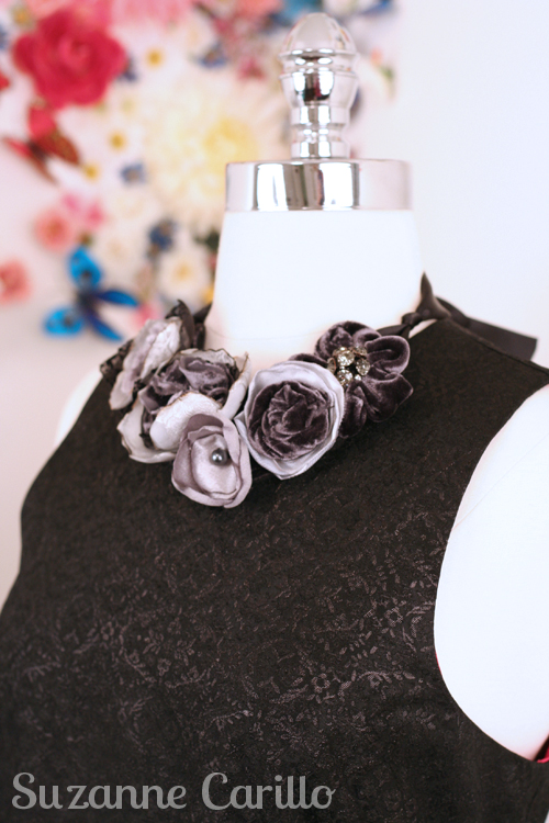 one of a kind handmade fabric necklace giveaway by suzanne carillo