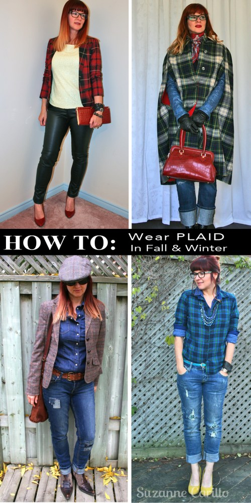 ideas how to wear plaid in fall and winter suzanne carillo