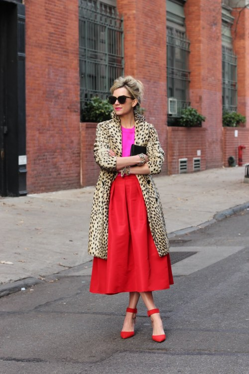 How to wear animal prints with bright colours.