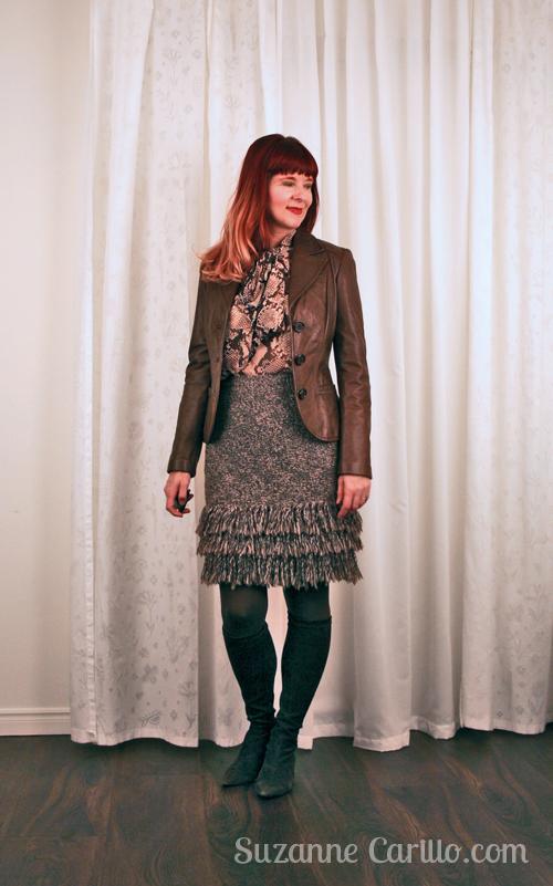 Style my fringed skirt.