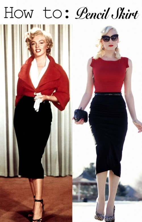 How to style a vintage pencil skirt
