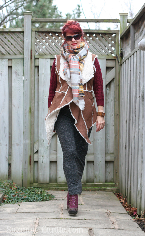 How to wear a long vest in winter