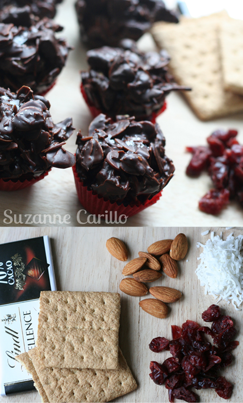 No bake chocolate hay stack cookie recipe ready to eat in 15 minutes! by Suzanne Carillo