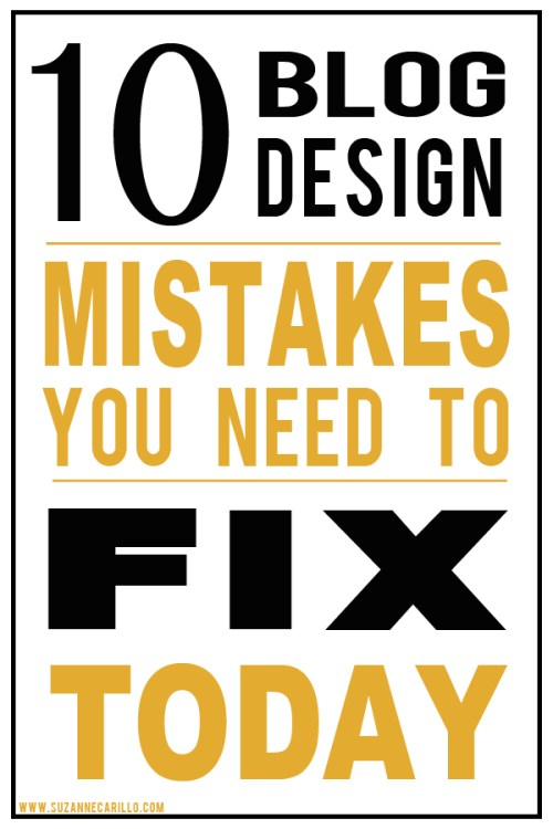 10 blog design mistakes you need to fix today
